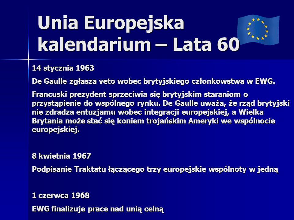 Unia Europejska kalendarium – Lata 60