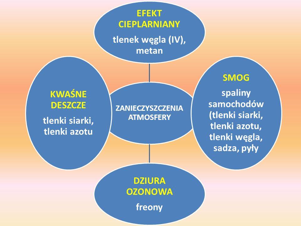 tlenek węgla (IV), metan SMOG