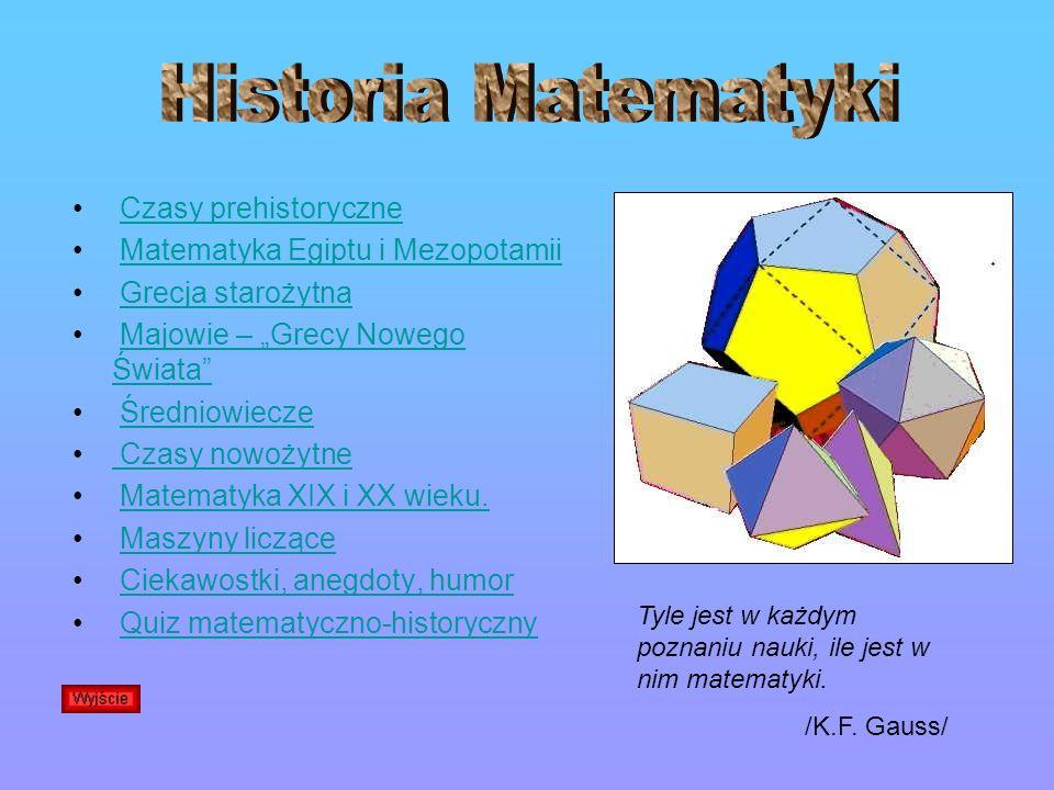 Historia Matematyki Czasy prehistoryczne