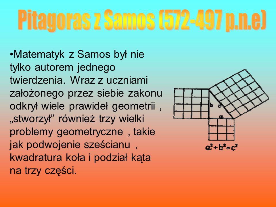Pitagoras z Samos (572-497 p.n.e)