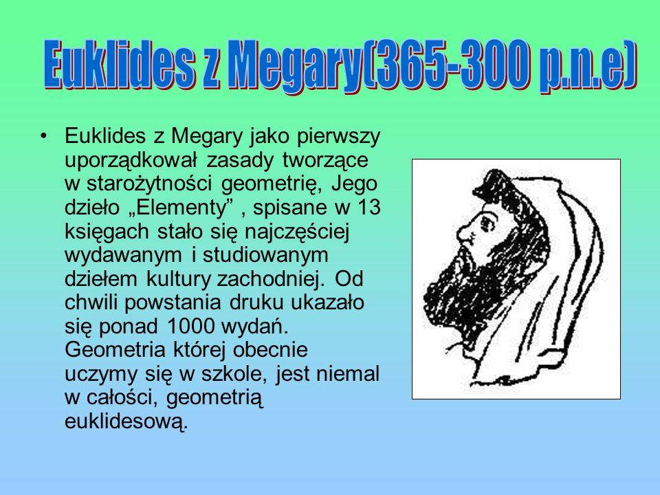 Euklides z Megary(365-300 p.n.e)