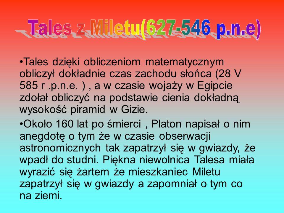 Tales z Miletu(627-546 p.n.e)