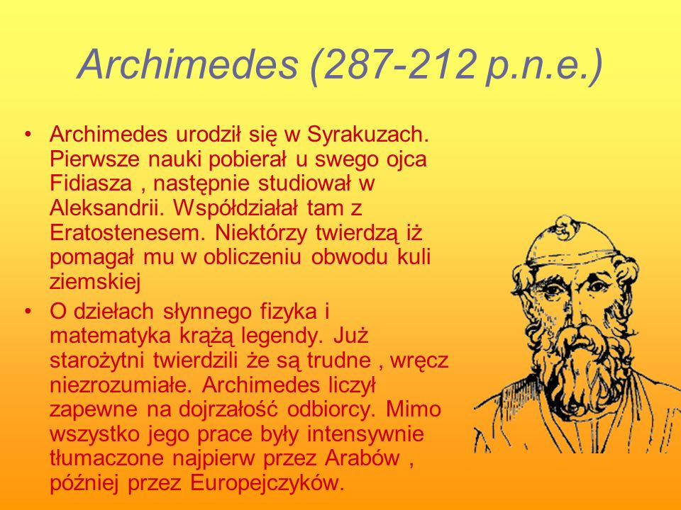 Archimedes (287-212 p.n.e.)