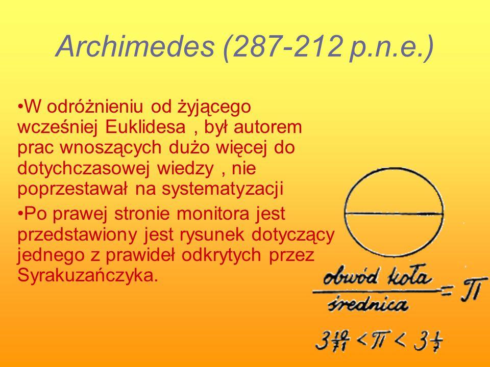 Archimedes (287-212 p.n.e.)
