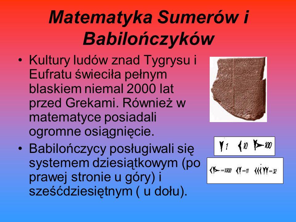 Matematyka Sumerów i Babilończyków