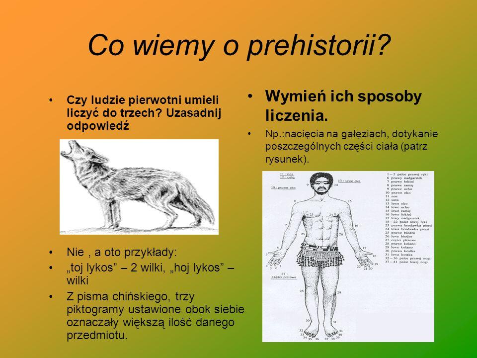 Co wiemy o prehistorii Wymień ich sposoby liczenia.