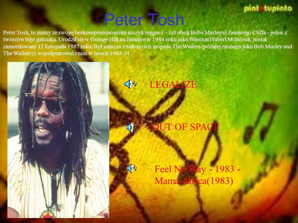 Peter Tosh LEGALIZE OUT OF SPACE