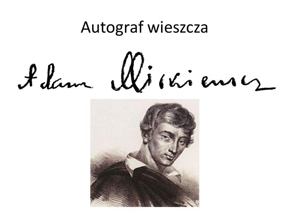 Autograf wieszcza