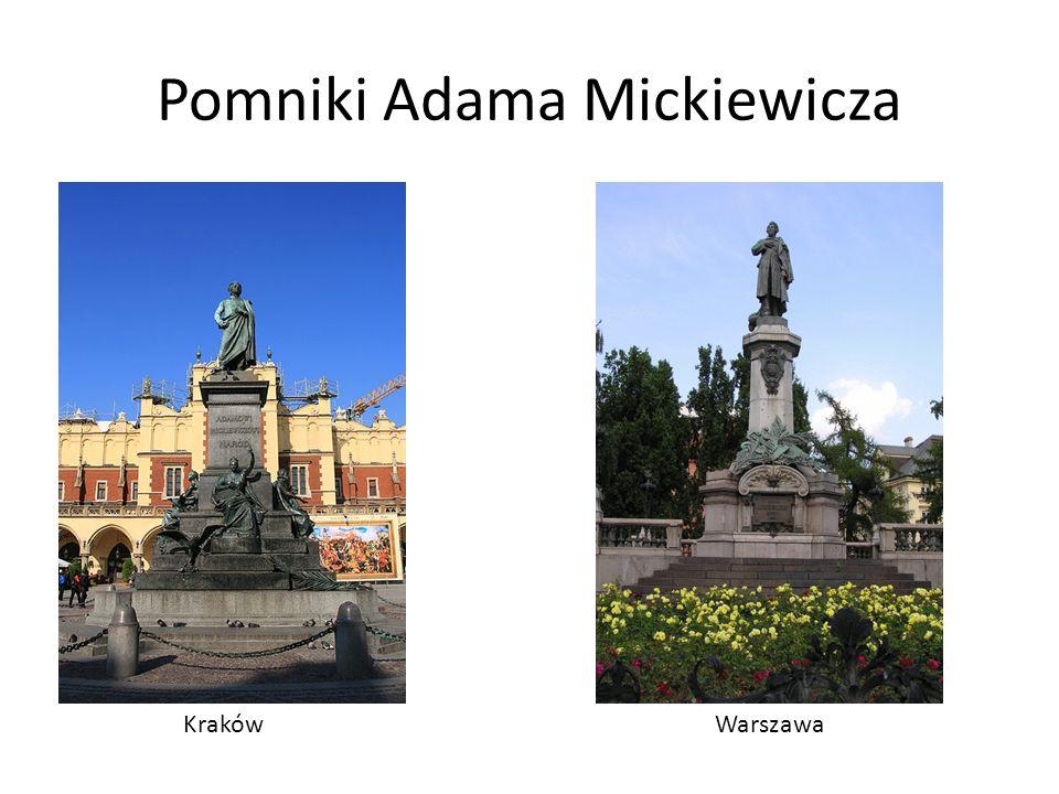 Pomniki Adama Mickiewicza