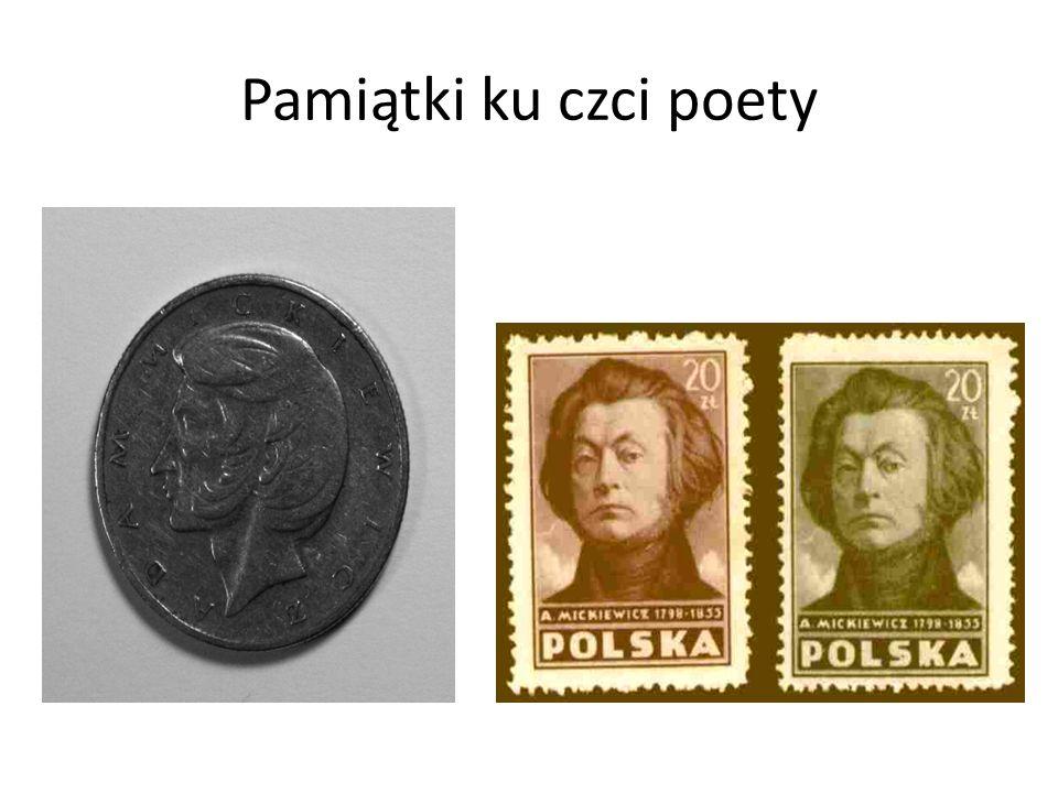 Pamiątki ku czci poety