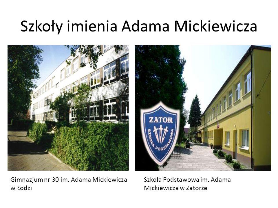 Szkoły imienia Adama Mickiewicza