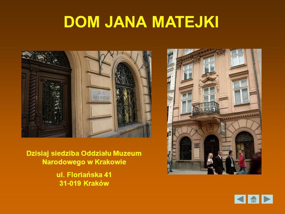 Dzisiaj siedziba Oddziału Muzeum Narodowego w Krakowie