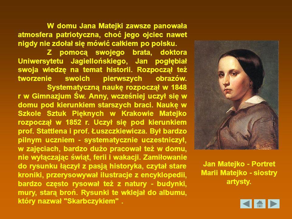 Jan Matejko - Portret Marii Matejko - siostry artysty.