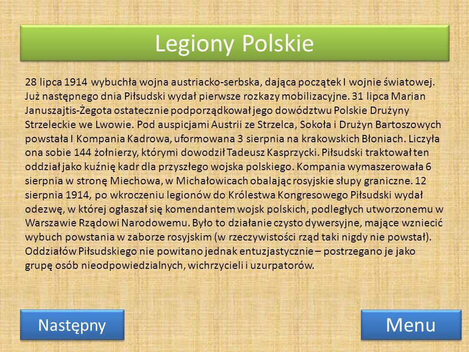 Legiony Polskie Menu Następny