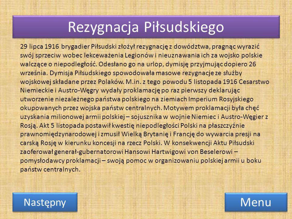 Rezygnacja Piłsudskiego