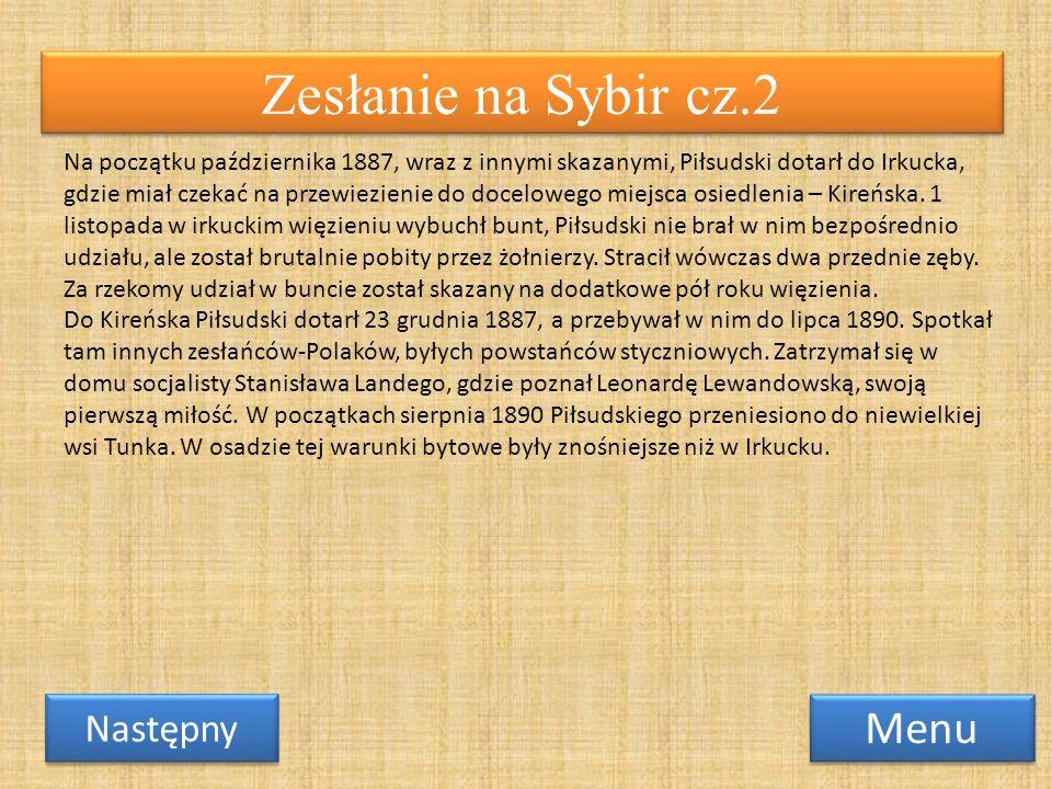 Zesłanie na Sybir cz.2 Menu Następny