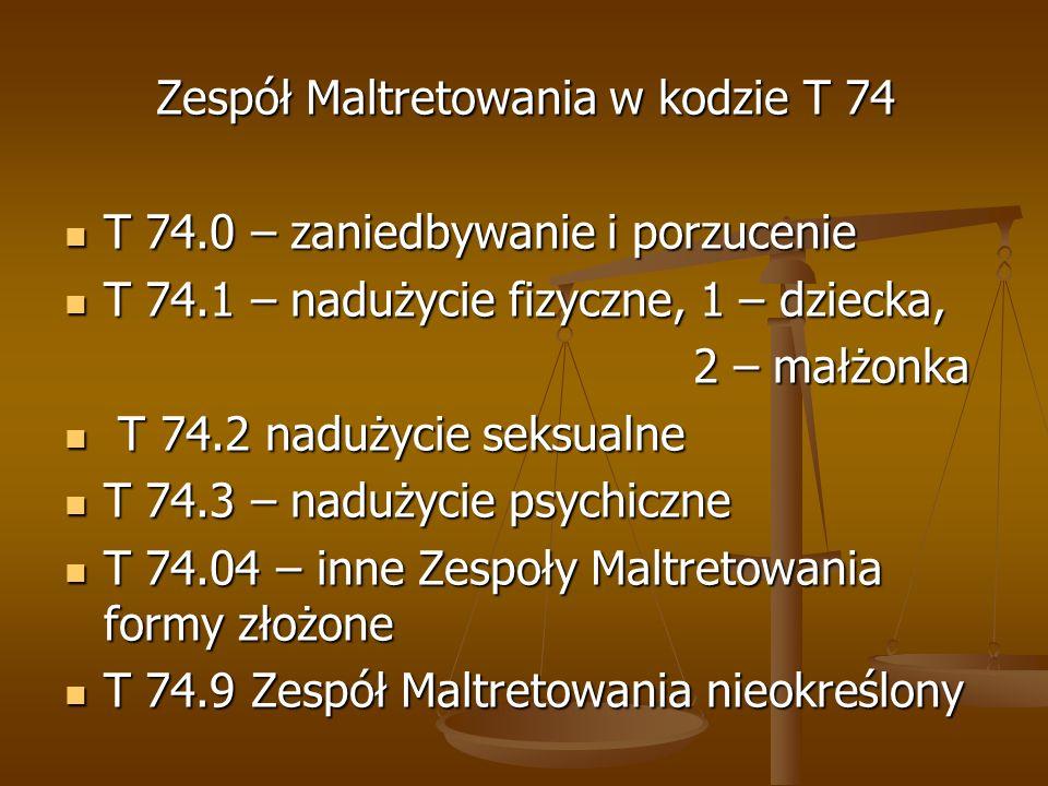 Zespół Maltretowania w kodzie T 74