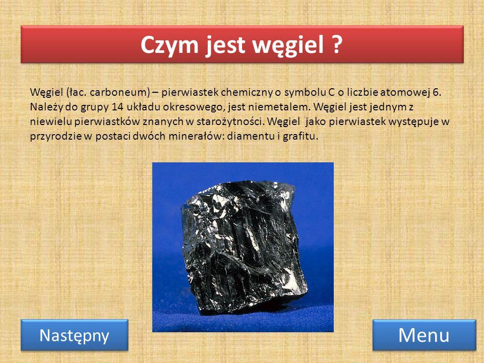 Czym jest węgiel Menu Następny