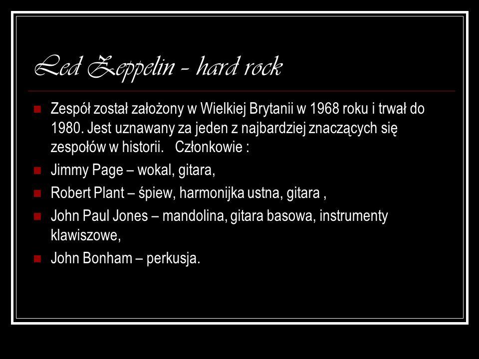 Led Zeppelin – hard rock