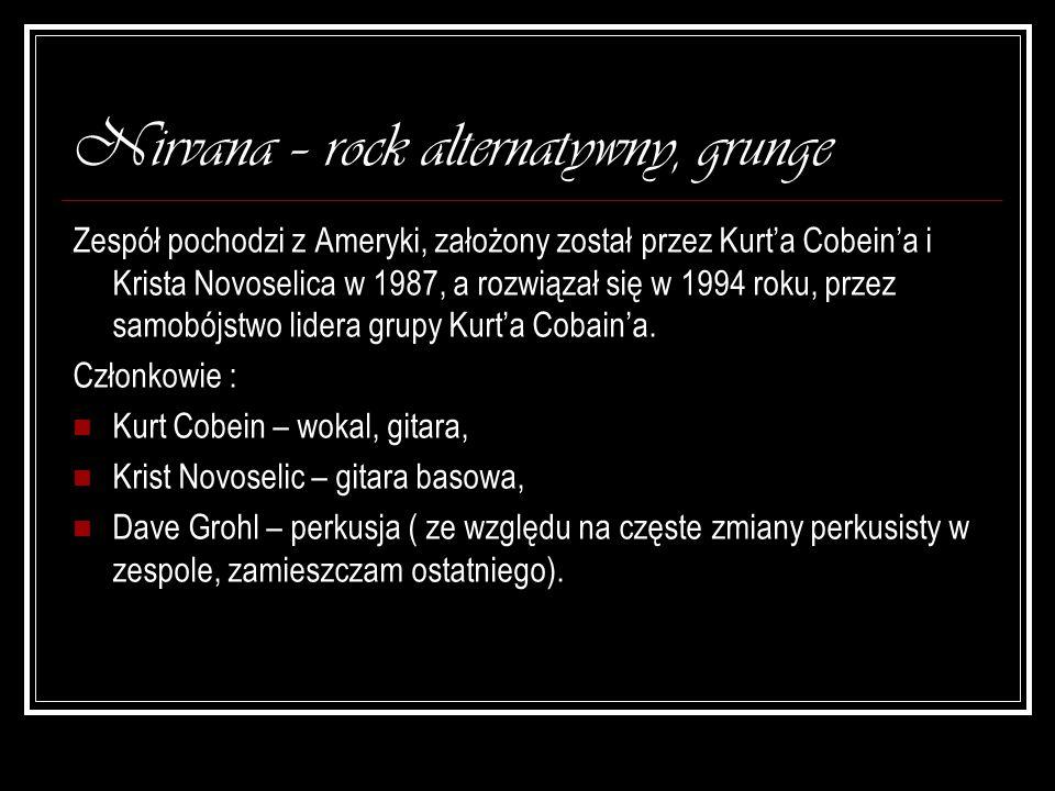 Nirvana – rock alternatywny, grunge