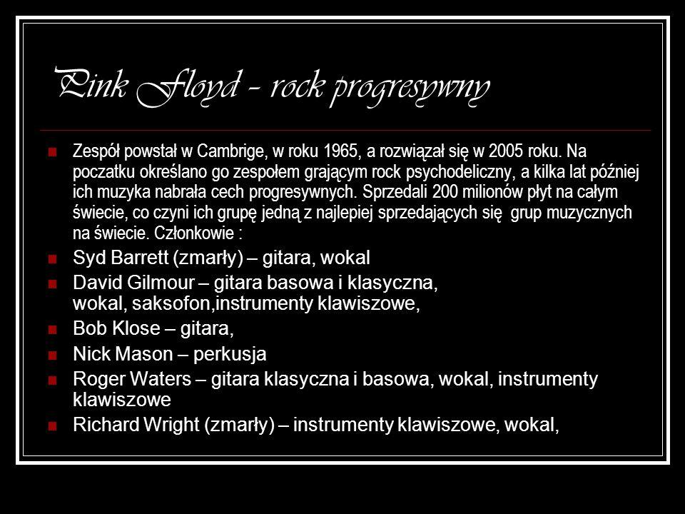 Pink Floyd – rock progresywny