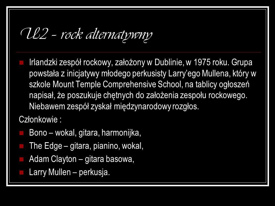 U2 – rock alternatywny