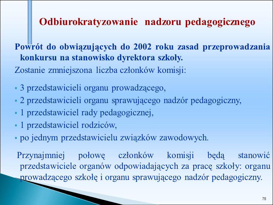 Odbiurokratyzowanie nadzoru pedagogicznego