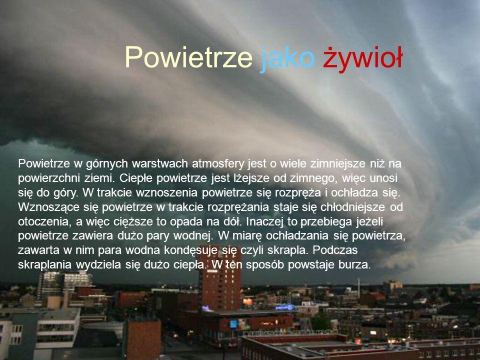 Jak powstaje burza Powietrze jako żywioł