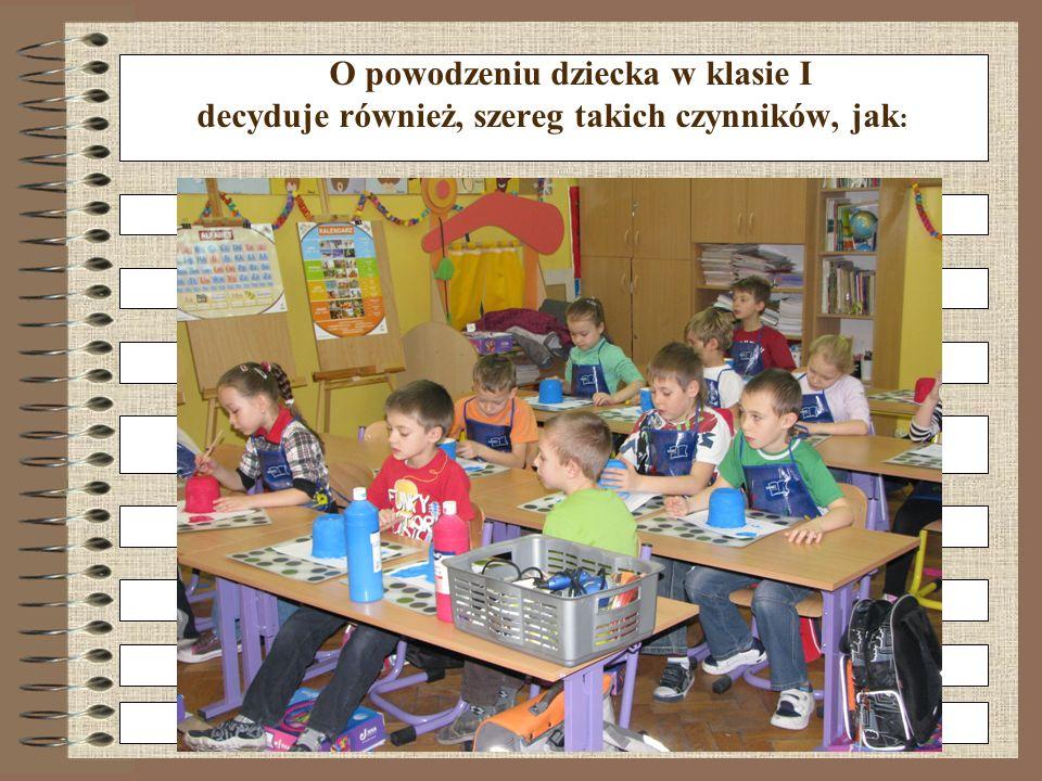 O powodzeniu dziecka w klasie I