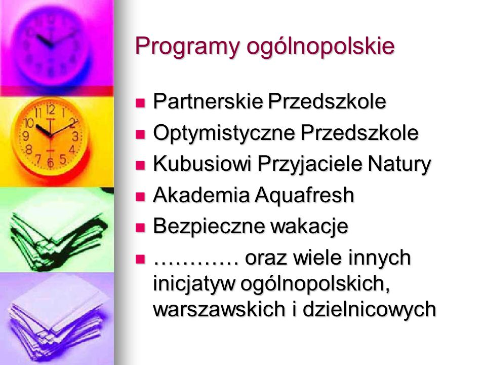 Programy ogólnopolskie