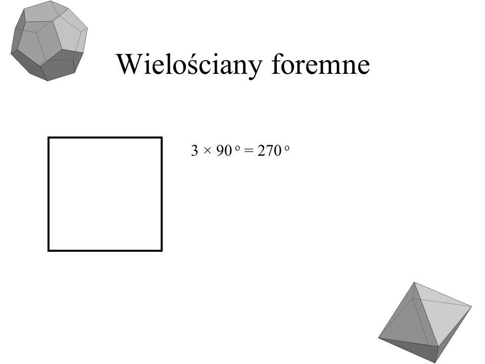 Wielościany foremne 3 × 90 o = 270 o