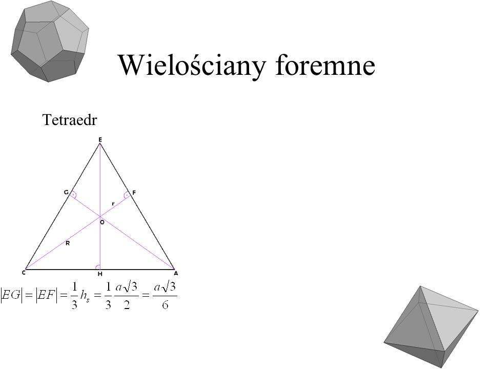 Wielościany foremne Tetraedr