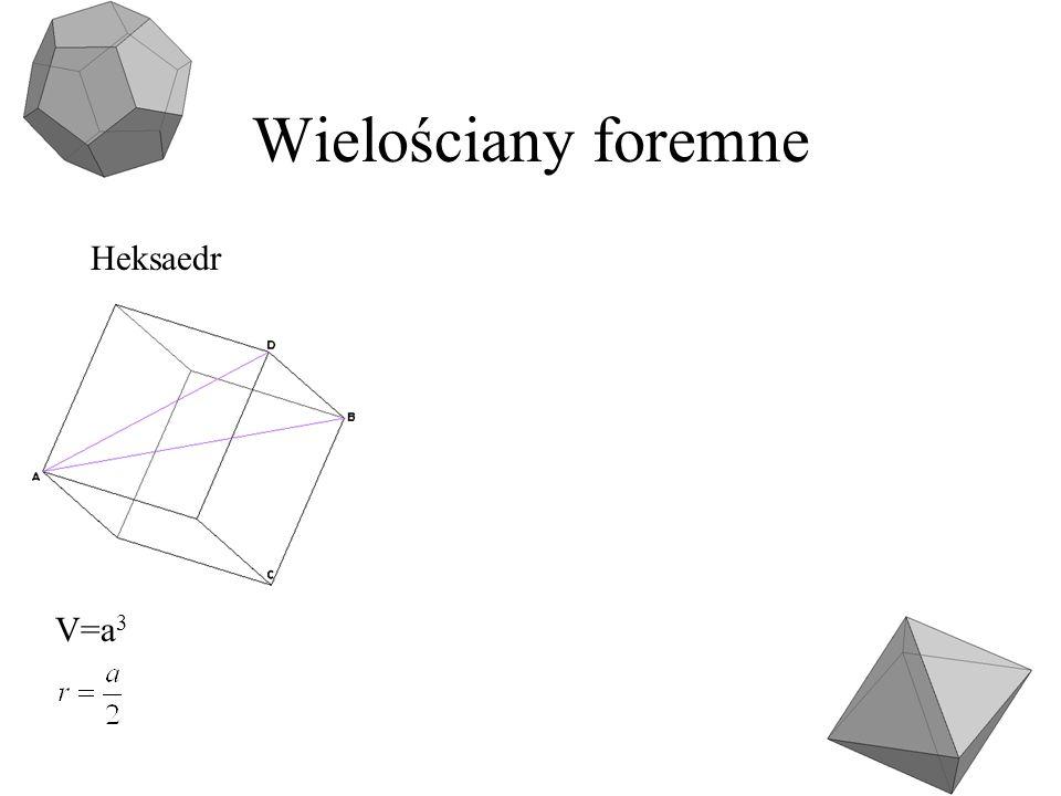 Wielościany foremne Heksaedr V=a3