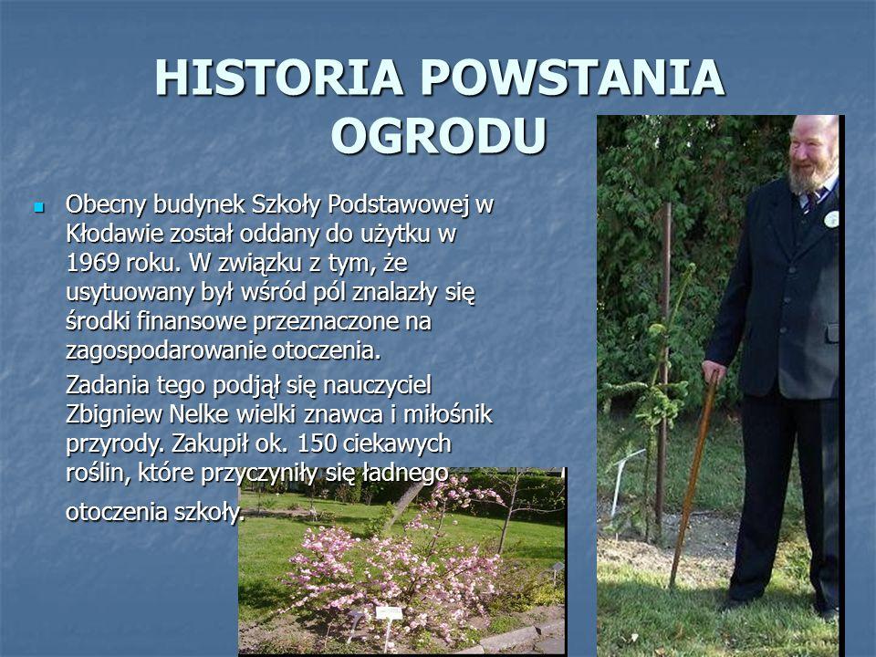 HISTORIA POWSTANIA OGRODU