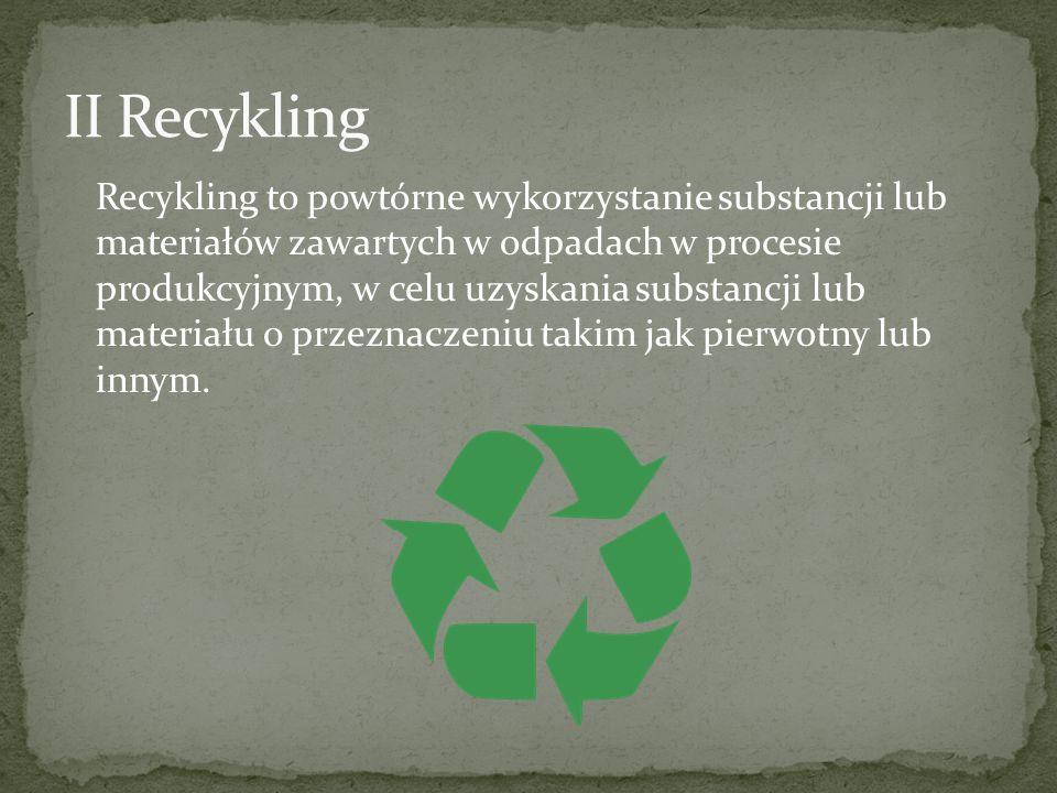 II Recykling