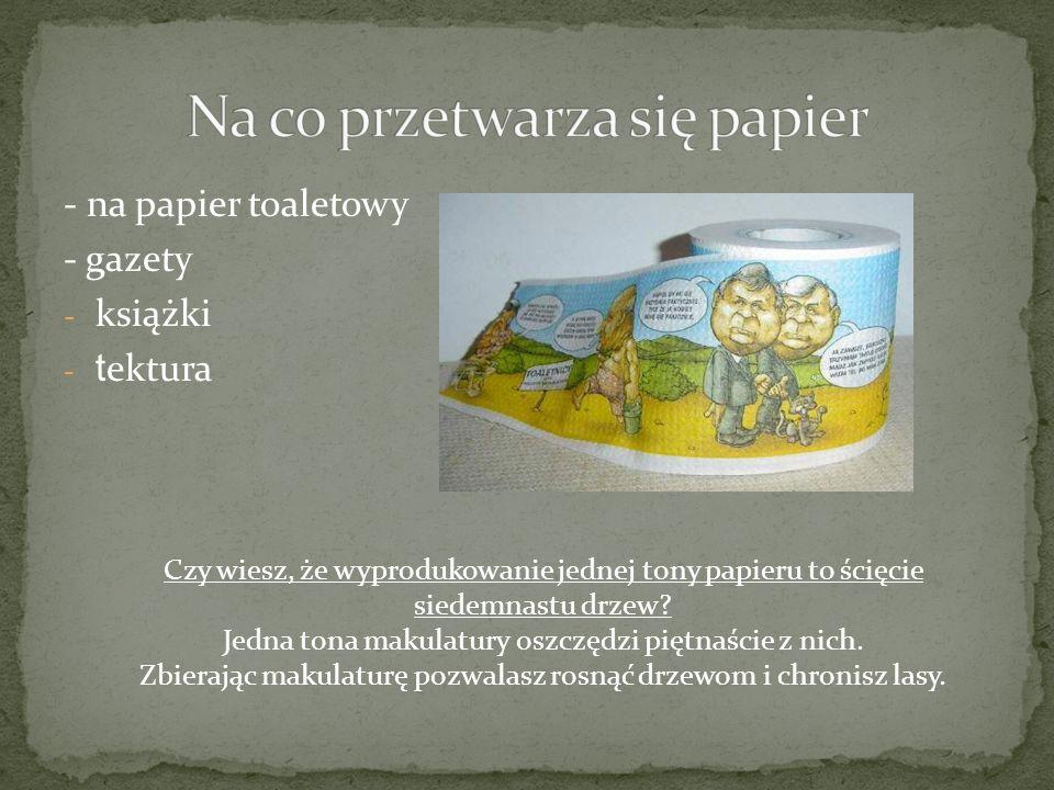 Na co przetwarza się papier