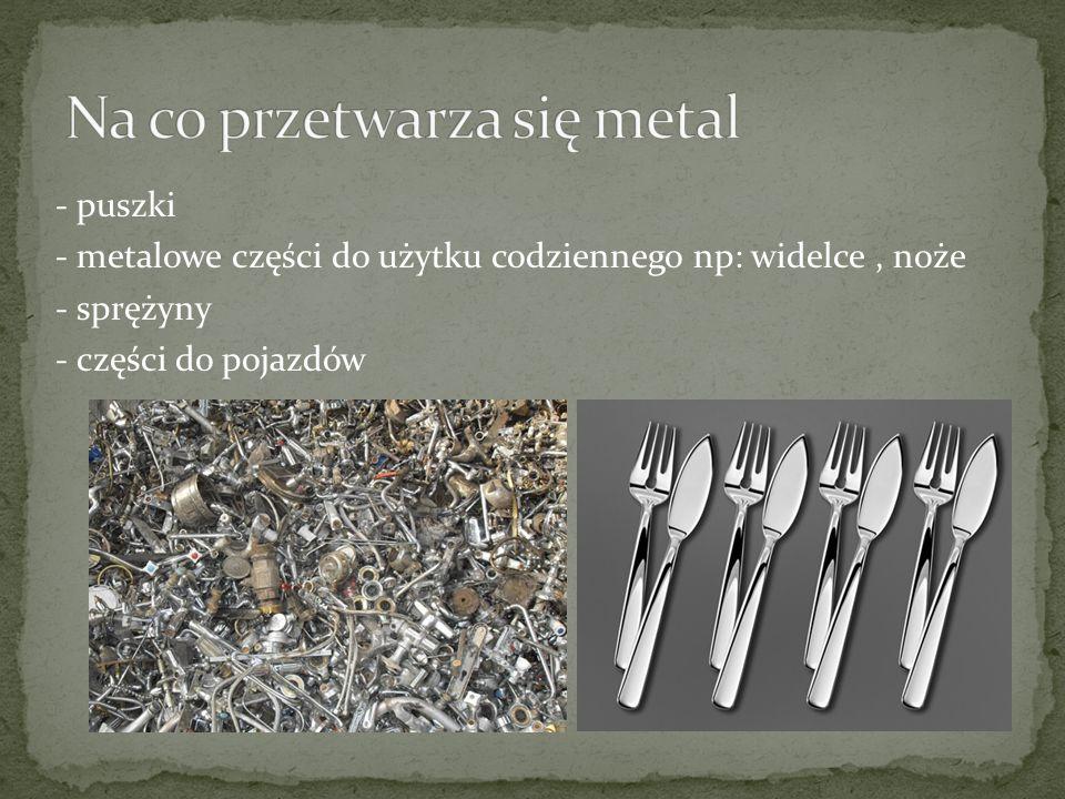 Na co przetwarza się metal