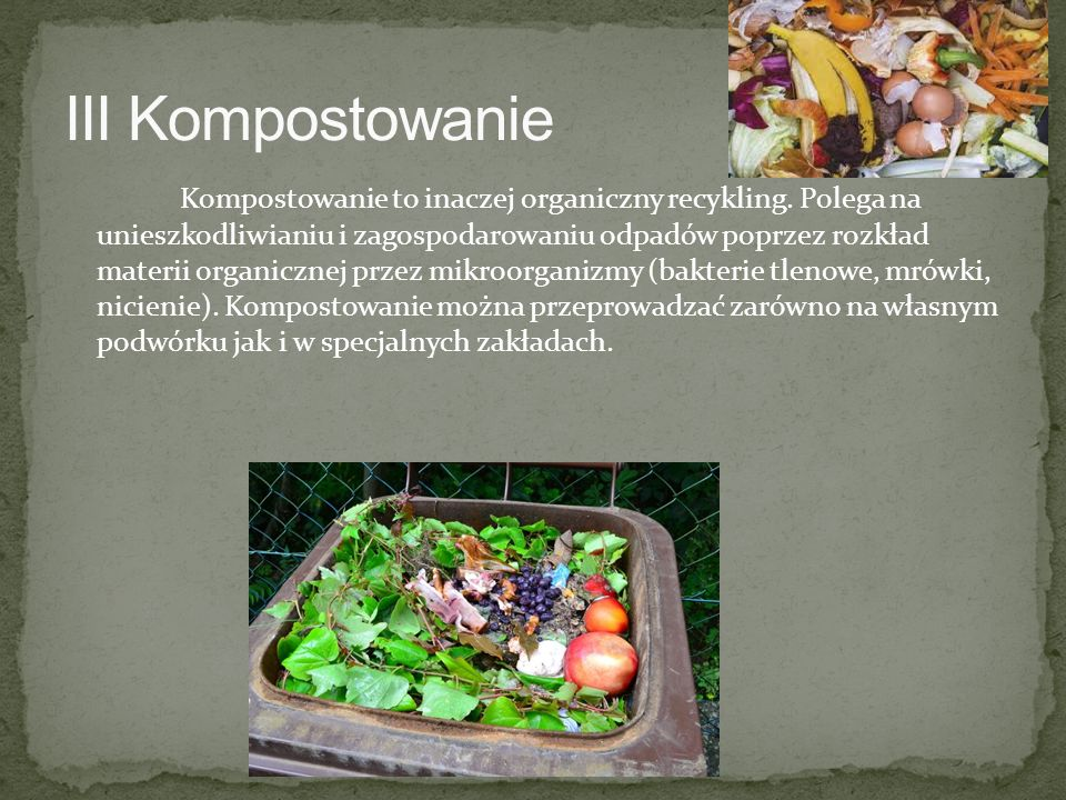 III Kompostowanie