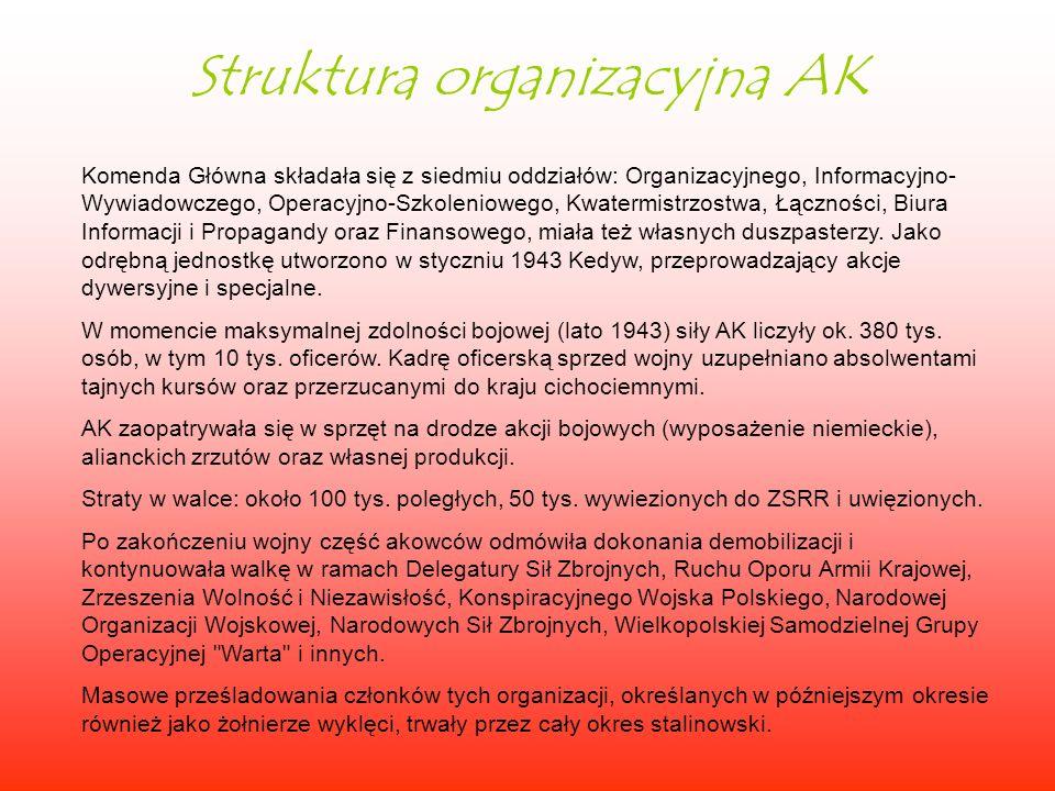 Struktura organizacyjna AK