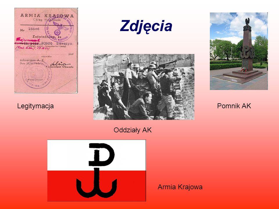 Zdjęcia Legitymacja Pomnik AK Oddziały AK Armia Krajowa