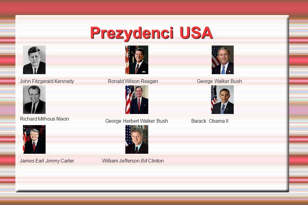 Prezydenci USA John Fitzgerald Kennedy Ronald Wilson Reagan