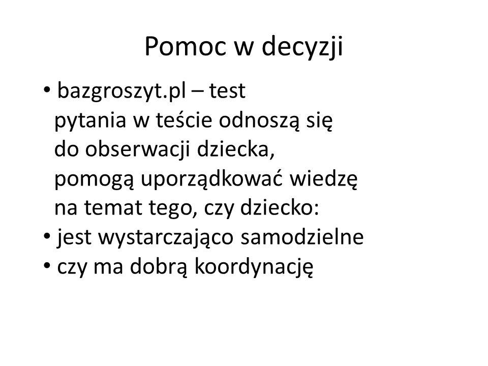 Pomoc w decyzji bazgroszyt.pl – test pytania w teście odnoszą się