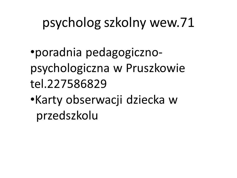 psycholog szkolny wew.71 poradnia pedagogiczno-