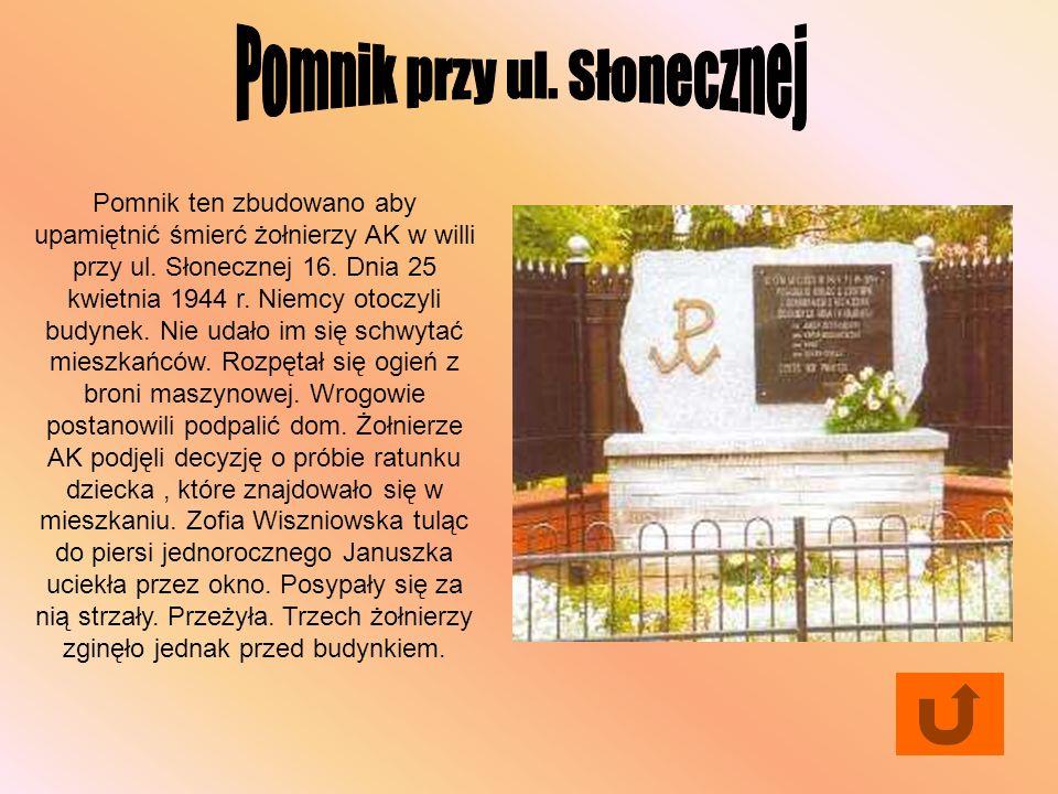 Pomnik przy ul. Słonecznej