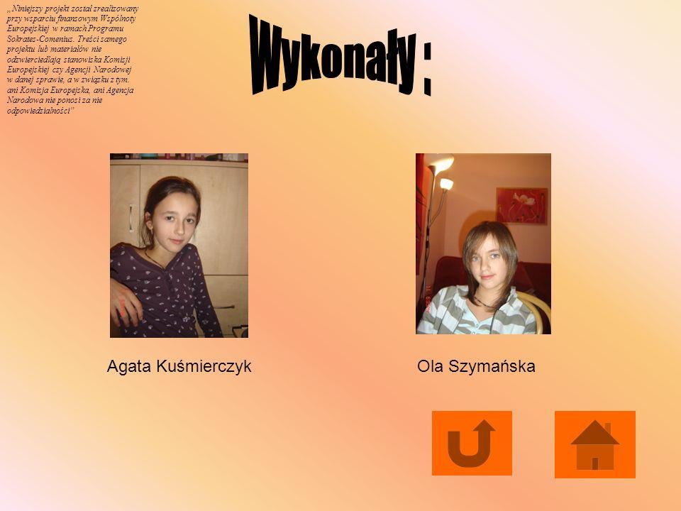 Wykonały : Agata Kuśmierczyk Ola Szymańska