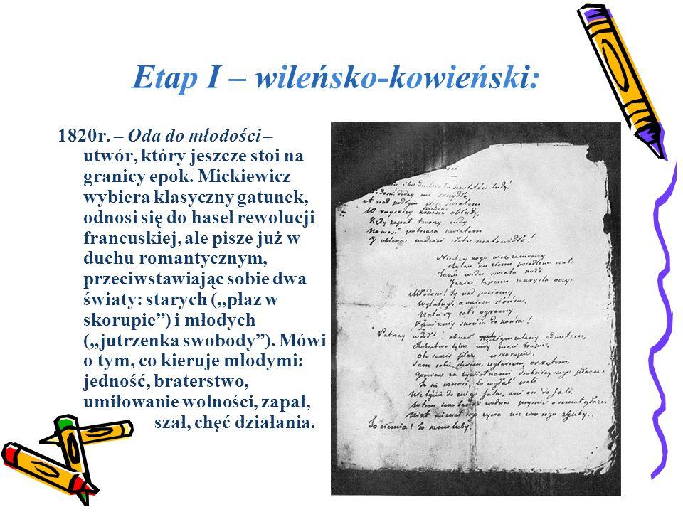 Etap I – wileńsko-kowieński:
