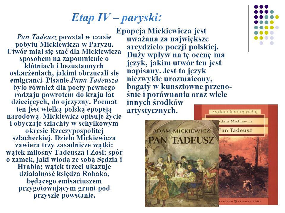 Etap IV – paryski: