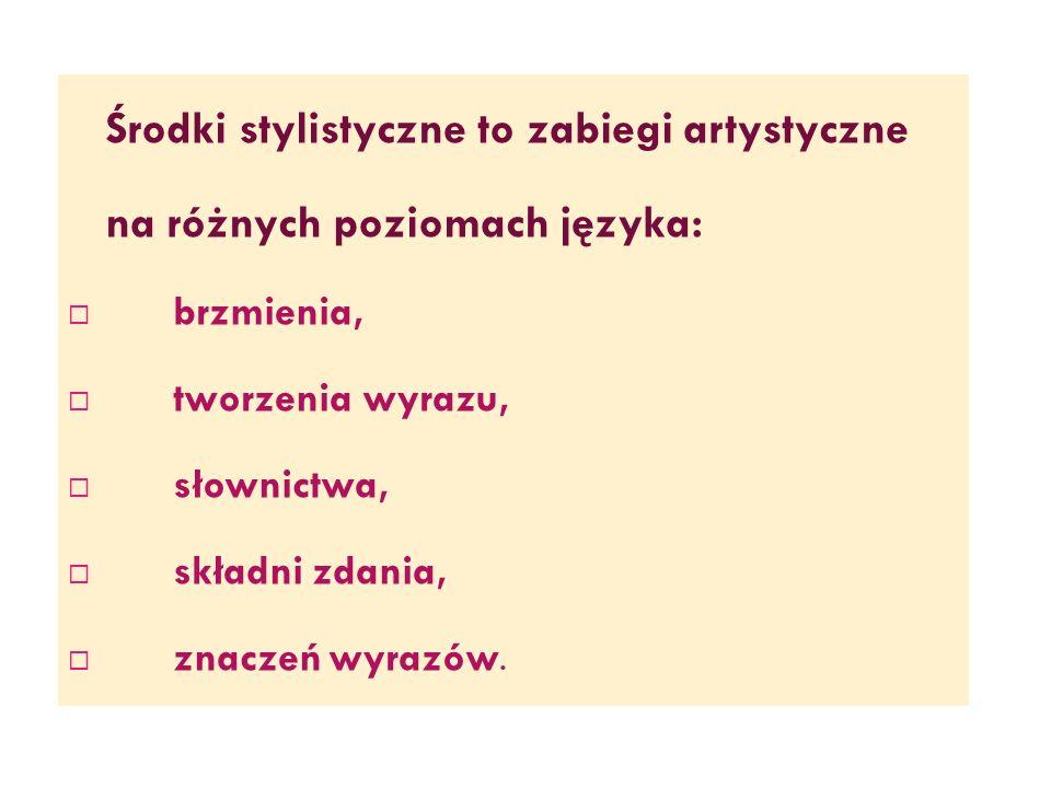 na różnych poziomach języka:
