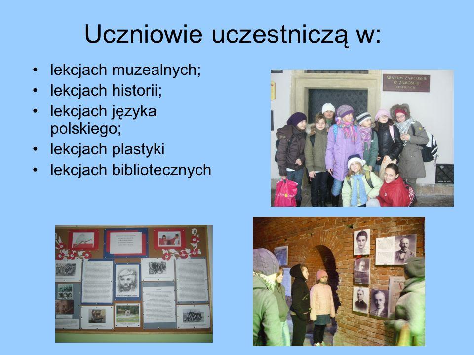 Uczniowie uczestniczą w: