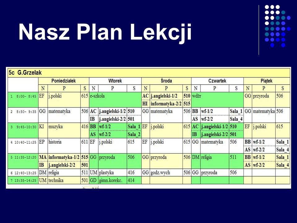Nasz Plan Lekcji